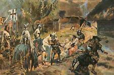 Teutonic Knights Apostolate W Kossak 1909 7x5 Inch Print
