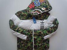 NEW WITH TAG Adidas A Bathing Ape Shark Camo White Hoodie Jacket ID96 JKT Bape M