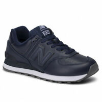 SCARPE SNEAKERS NEW BALANCE UOMO 574 ML574SNU BLU PELLE AI 2020 NEW