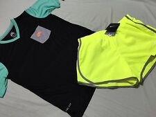 Nike Just Do it Tee & Tempo Running Short Size L Black Yellow 2Pc Lot