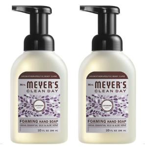 2 Bottles! Mrs. Meyer's Foaming Hand Soap Lavender 10 oz 662031EA Esse Oils Aloe