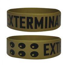 Gummi Armband DOCTOR WHO - Exterminate! / Gold ca65x24mm NEU Wristband