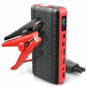 18000mAh 600A Peak Portable Car Jump Starter 12V Up to 4.0L Gas or 3.4L Diesel