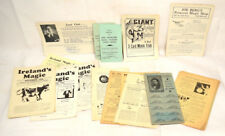 Collection of 1930s Magic Trick Catalogs & Flyers + Sheet of Tickets for Heany