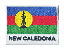 Patche écusson drapeau Kanaky patch Nvelle Calédonie thermocollant 70 x 45 mm