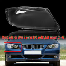Right Headlight Lens Cover Lens Replacement For BMW 3 Series E90/E91 2005-2008