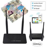 Mini Dual Antenna 300Mbps Wireless Router Extender 2.4G Wifi Repeater AP Bridge