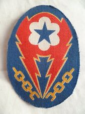 PATCH US WWII ORIGINAL ETO EUROPEAN THEATRE of OPERATIONS ADVANCED BASE imprimé