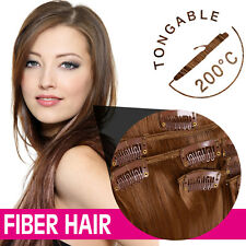 Synthetic Clip In  High Temperature Fiber Straight Hair Extension 22color