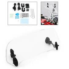 Motorcycle Windshield Clip On Extension Spoiler Adjustable Wind Deflector Clear
