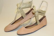 Free People NEW Womens 10 10.5 41 Womens Pink Ballet Straps Shoes SPAIN