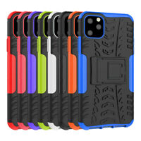 Rugged Hybrid Armor Shockproof Hard Case Stand Cover For Apple iPhone 11 Pro Max