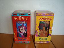 2 Pocahontas Governor Ratcliffe&Percy/Powhatan&Kocoum Plastic Cups Disney NIB