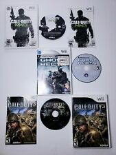 Nintendo Wii GAME LOT of 3 Call of Duty 3, Modern Warfare 3 and  Ghost Recon