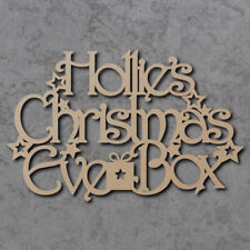 Personalised Christmas Eve Box Topper (20cm) - Wooden Christmas Craft Blanks