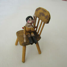 Dollhouse ARTISAN CHAIR WOODEN PEG DOLL Artist Primitive Shabby Chic Grodnertal