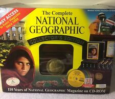 National Geographic CD Rom Teak Wood Box 110-Years 30 CDs 1888-1998 Complete Set