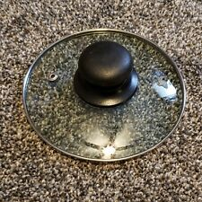 "Clear Glass Pot Pan Casserole Replacement Lid 5 13/16"" Diameter Stainless Rim"