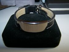 KAY JEWELERS ALL LEATHER & STAINLESS LORD'S PRAYER ADJUSTABLE BAND BRACELET