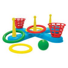 Wurfspiel mit Ringen und Bällen Ringe werfen Zielwerfen Gartenspiel Ballspiel