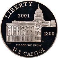 "2001 P PROOF ""Capitol Visitor Center"" Commemorative Dollar , 90% Silver,"