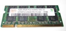 hynix RAM 1GB 2Rx8 PC2-5300S-555-12 aus Notebook ASUS X50R nynix