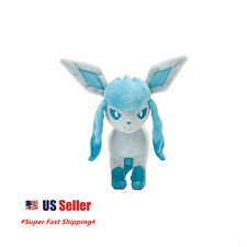 "New Pokemon Pocket Monster Eevee Evolution Glaceon Plush Stuffed Doll 8"" Doll"