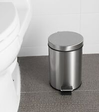 Step Trash Can Waste Litter Garbage Kitchen Storage Basket Bathroom 5L Lid Bin