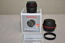 Samyang AF 24mm f/2.8 Autofocus for Sony FE Full Frame E-Mount w/ Box _Excellent