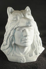 Native American Indian in Wolf Headdress Latex Statue Mold MOLD ONLY 709