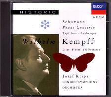Wilhelm KEMPFF schumann piano concerto petits Arabesque Liszt Sonetto CD Krips
