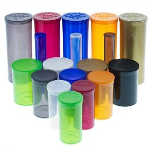 Plastic Tube Pop Top Dram Container Vial Set Of 5