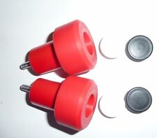 KAWASAKI ZX9R ZX9 R 1998 - 2003 RED CRASH MUSHROOMS SLIDERS BUNGS BOBBINS R9D4
