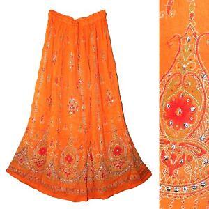 Rayon Skirt Indian Gypsy Retro Kjol Vintage Look Boho Women Ehs Jupe Hippy Falda