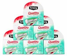 Schick Quattro Womens Razor Blade Refills Sensitive Hypoallergenic 24 Cartridges