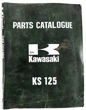 kawasaki ks125 trail bike october 1973 illustrated parts book - wp