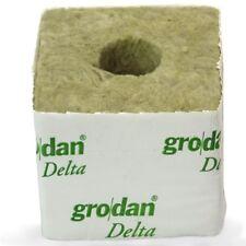 50 * Cube de laine de roche Grodan DELTA 75mm - 40/35 (gros trou)