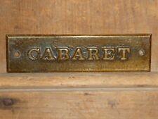 EARLY 1900s OLD ORIGINAL RARE BURLESQUE CABARET BRASS SIGN ANTIQUE DANCE MUSIC