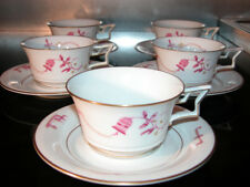 "RARE 5 PORCELAINE COFFEE SET signed ERNST WAHLISS WIEN "" TIRANA "" ROSENTHAL"