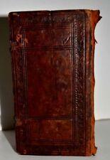 1723 Amazing wooden binding rare book Judaica Hebrew antique signatures WOW