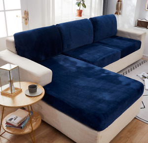 Elastic Fitted Sofa Slip Cover Chair Couch Slipcover Furniture Protector Velvet
