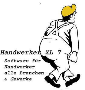 Handwerker Software XL 7 alle Gewerke GOBD-KONFORM (seit 1.1.17 Pflicht)