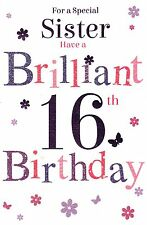 For A Special Sister on Your 16th Birthday Card –