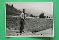 1x Foto Auto Oldtimer ISO BMW Isetta 1950-1960er Urlaub Alpen Reise Kult Car +++