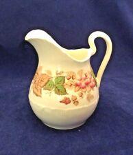 "New listing Wedgwood Wildbriar Vintage Creamer 4-1/4"" 8 Oz Brown/Pink Flowers Shell Edge Euc"