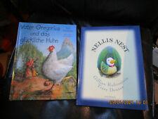 Zwei schöne Bilderbücher. Nellis Nest. Vater Gregorius und das glückliche Huhn