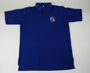 VTG Mens Polo Champion New York Giants shirt Short Sleeve Large USA Made Blue