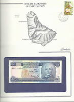 Banknotes of Every Nation Barbados 2 Dollars 1986 P 36 King UNC Prefix H