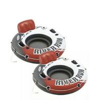"Intex 2 Pack Red River Run 1  Lounge Raft Inflatable Water Tube Pool Float 53"""