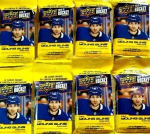 Upper Deck NHL Ice Hockey LOT OT 8 Fat Packs YOUNG GUNS ROOKIES